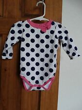Okie Dokie baby girls long sleeve polka dot one piece size 6-9 mos. GLNC