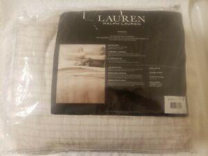 Ralph Lauren Mason Geo Stripe  3-Pc. Cotton King Duvet Cover Set - New