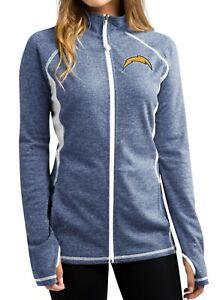 "San Diego Chargers Women's Majestic NFL ""Club Pass"" Full Zip Sweatshirt"
