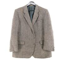 Harris Tweed 100% Laine Marron Veste Blazer Taille US/GB 44 Eur