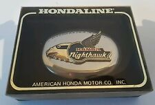 American Honda Motor Co Nighthawk Belt Buckle Hondaline Motorcycle NIB NOS