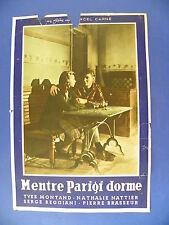 R FOTOBUSTA ORIGINALE MENTRE PARIGI DORME MARCEL CARNE' YVES MONTAND NATTIER 4
