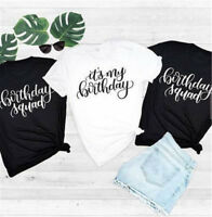 Personalised Shirt Funny  Birthday Party Tee Women T-Shirt Unisex Girl Tops