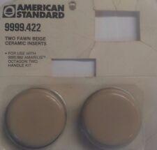 American Standard Amarilis faucet 2 Fawn Beige Ceramic Inserts 422