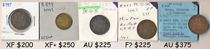 4 PEI  & 1 HALIFAX TOKEN (EX-OLD TIME COLLECTION) CV $1,275 USD > NO RESERVE