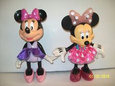 Talking Singing Minnie Mouse Light Up Bow Doll Shoes Skirt & 2008 Posable Minnie