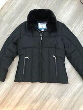 Fera Feraski Girls Ski Jacket Size 12 Youth Black Winter Down Feather Coat