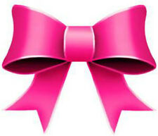 20 Water Slide Nail Art Decal Transfer Dark Pink Bows 3/8 Inch