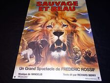 SAUVAGE ET BEAU frederic  rossif  affiche cinema  afrique lion mascii