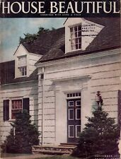 1937 House Beautiful September - Homes in Needham MA and Wilmette IL; Lombardy