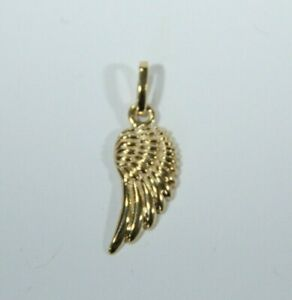 9ct Yellow Gold Angel Wing Pendant      Quality Heavier Weight Special Discout