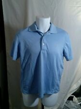 IZOD Light Baby Blue 3-Button Short Sleeve Polo Shirt Men's Size S EUC