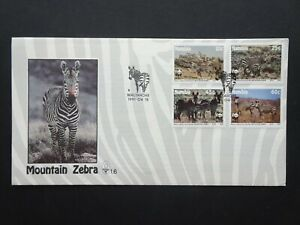 Namibia Mountain Zebra official first days stamp cover dated April 1991