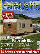 Camping Cars Caravans 2005 8/05 Eriba Feeling 415 Kabe Royal 720 GLX KS Rover 75