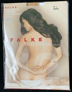 Falke Shelina Toeless12 Tights Ultra-Transparent Shimmer Size L Powder