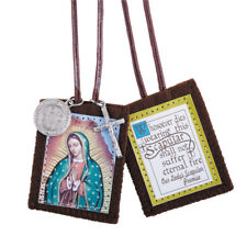 Our Lady Of Guadalupe Scapular With Medals (D1201) NEW 2 Inches