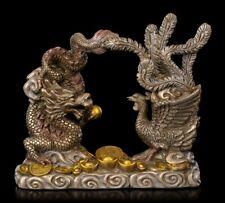 Feng Shui Figur - Drache mit Phönix - Glücksbringer Reichtum Harmonie Deko