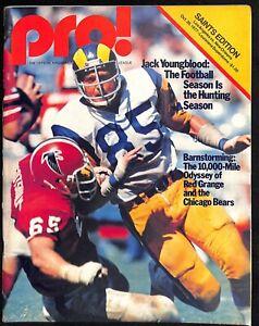 1977 LA Rams v New Orleans Saints Program Superdome Jack Youngblood Ex 66553