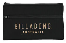BILLABONG PENCIL CASE BAG STORAGE PEN SCHOOL ORGANISER STATIONERY UNI NEW BLACK