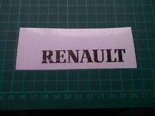 RENAULT Chrome... Adesivo Decalcomania PANNELLO...... x2