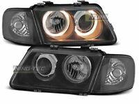 Headlights for AUDI A3 8L 96-00 Angel Eyes Black UK RHD/LHD LPAU10-ED XINO