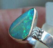 Brazil Crystal Opal 3.3 Karat 950er Silberring Größe 18,8 mm Unikat