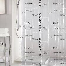 Duschvorhang wasserdicht transparent waschbar 180x200 cm zuschneidbar