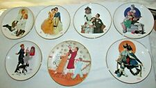 Lot Of 7 Norman Rockwell Collectible Plates 8.5 inch