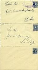 Bolivia Lot Of 10 Postal Stationery Cards And Envelopes M & U Scarce As Shown