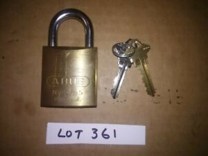 ABUS 83/45 PADLOCK...CLEANED RE-KEYED WITH SPOOL PINS, WITH 2 KEYS....LOT # 361