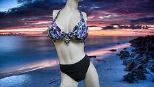 NWT GIDEON OBERSON 2 pc BIKINI 36B/C Tribal print BATHING SUIT Swimsuit SET - 12