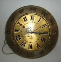 GENERAL ELECTRIC TELECHRON ZODIAC ELECTRIC WALL CLOCK MODEL 2H6I
