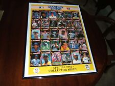 ~ '92 Starting Lineup Collector Uncut Sheet 30 Cards ~ Mint ~ With Frame ~