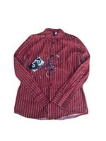 Divided BY H&M Men's Button Up Retro Printed Shirt Size Sm