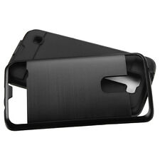 2016 NEW FOR LG Tribute 5 / K7 PHONE BLACK BRUSHED SOFT/HARD SKIN COVER CASE