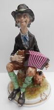Rudolstadt Volkstedt Figure Busker Accordion And His Dog Height 25cm