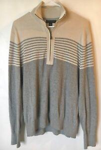 Banana Republic Men's 100% Cotton Half Zip Pullover Sweater Size M Medium