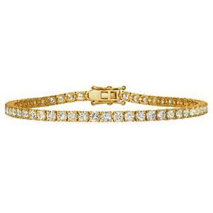 Last Pc Deal 4.70 Ct F/SI Natural Round Diamond Tennis Bracelet Yellow Gold