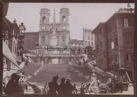 Roma Trinity-Des-Monts Italia Foto Amateur Vintage Citrato 1898
