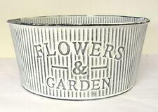 Flower & Garden Metal Bucket Tin Plant Planter Pot 22cm Vintage Galvanised Decor