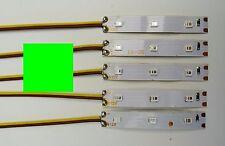 5 Stück LED Strip Grün  Verkabelt als Kirmes-Weihnachts-Hausbeleuchtung C2797