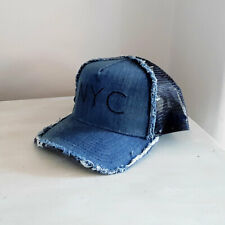 New Era NYC Denim Styled Adjustable Trucker Baseball Cap