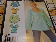 SIMPLICITY SEWING CRAFT PATTERN FOR WOMANS TOPS 4587 12-14-16-18 6 MADE EASY