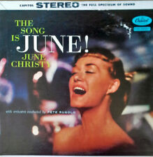 JUNE CHRISTY - THE SONG IS JUNE - CAPITOL LP - STEREO PRESSING - 1958