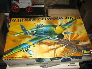 Sealed Hawker Typhoon Mk 1B by Revell in 1/32 scale from 1973