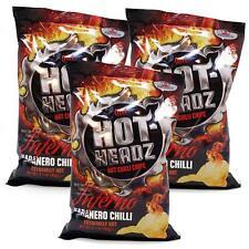Hot Headz Habanero Inferno Very Hot Chilli Pepper Crisps 3x60g Spicy Snack Chips