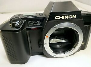 Chinon CP-7M 35mm Film SLR camera body - AS IS for Parts or repair - Not working