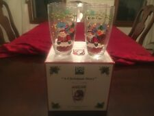 """A Christmas Story"" Susan Winget 4 PORTMEIRION STUDIO 19.5oz BEVERAGE GLASSES"