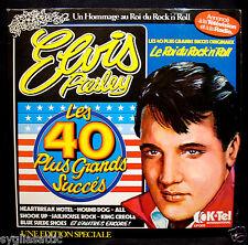 """ELVIS PRESLEY-""""LES 40 PLUS GRANDS SUCCES"""" FRANCE K-TEL Mail Order ONLY-2 ALBUMS"""
