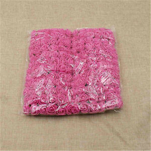 144pcs/Lot 2cm Mini PE Foam Gauze Rose Flower Head DIY Wedding Home Deco